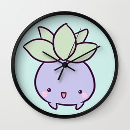 Happy Turnip Wall Clock