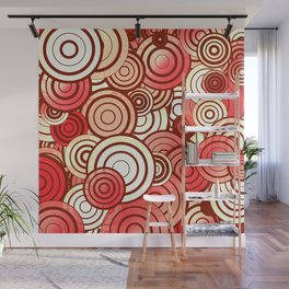 Layered random circles Wall Mural