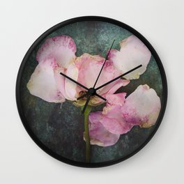 Wilted Rose II Wall Clock
