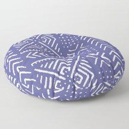 Line Mud Cloth // Iris Floor Pillow