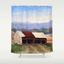 Waiting for Hay Day Shower Curtain