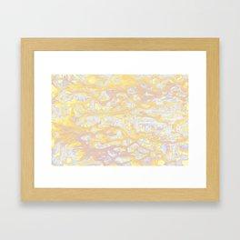Baesic Wet Paint Gold Framed Art Print