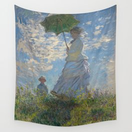 Woman with a Parasol - Madame Monet and Her Son Wall Tapestry