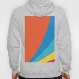 RAINBOW CURVES Abstract Art Hoody