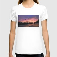 miami T-shirts featuring Miami Sunrise by Sookie Endo