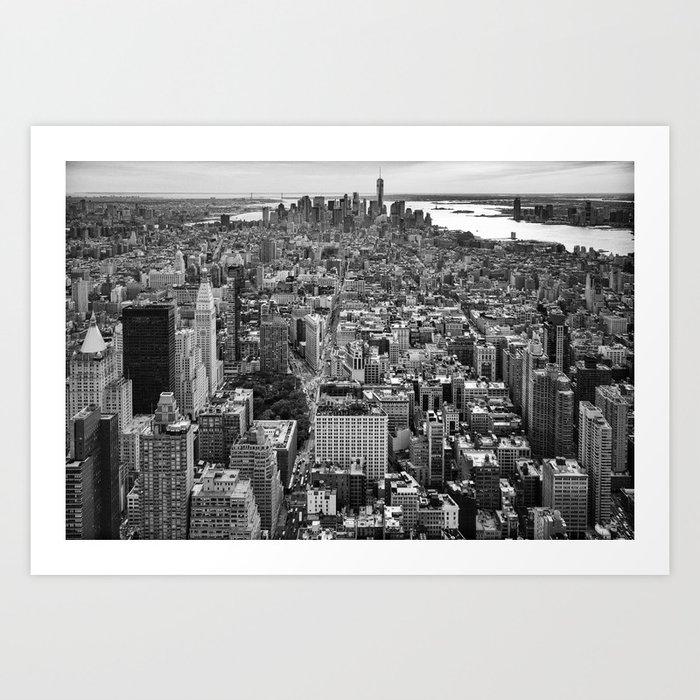 New York City black & white Art Print