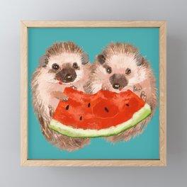 Love is Sharing Framed Mini Art Print
