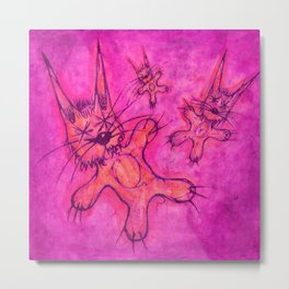 Record Cover for some Jazzed Rabbits, Violetish. Metal Print
