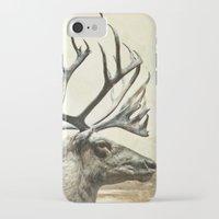 reindeer iPhone & iPod Cases featuring Reindeer by ZenaZero
