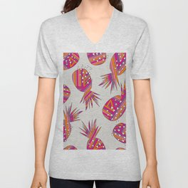 Geometric Pineapples Summer Print Unisex V-Neck