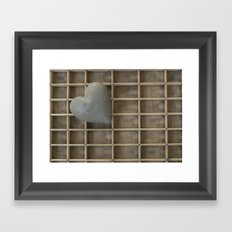 My heart on a grid. Framed Art Print