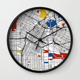 Los Angeles Mondrian Wall Clock