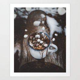 Marshmallow Deluxe Art Print