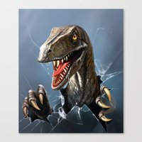 dinosaur Canvas Prints featuring dinosaur by Antracit