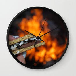Campfire S'mores Wall Clock