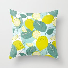 Lemons and Slices Throw Pillow