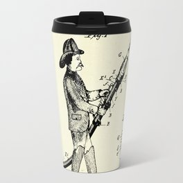 Firemans Fire Hose Rest or Support Patent Print- 1889 Travel Mug