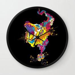 Psychedelic Bear Roar Wall Clock