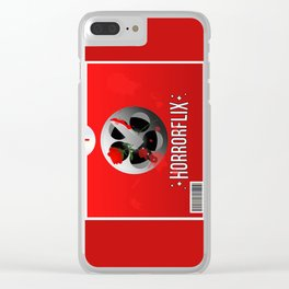 Horrorflix Clear iPhone Case