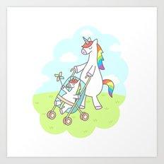 Unicorn Mama Art Print