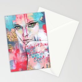 Light leaks through the cracks Stationery Cards