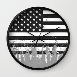 American Flag Urban Wall Clock