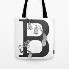 B for Bell Flowers Tote Bag