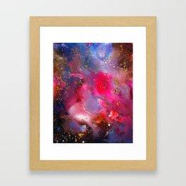Rose Crystal Galaxy Framed Art Print
