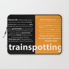 Trainspotting Quotes Black & Orange Laptop Sleeve