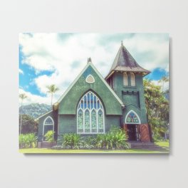 Hanalei Church, Kauai, Hawaii Metal Print