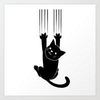 Cat Scratch Art Print