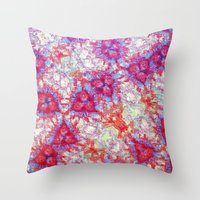dna Throw Pillows featuring DNA by MonsterBrown