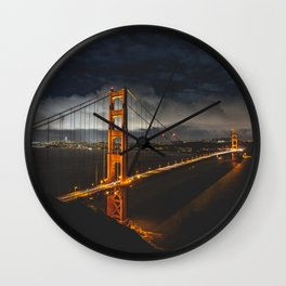 Golden Gate Glow Wall Clock