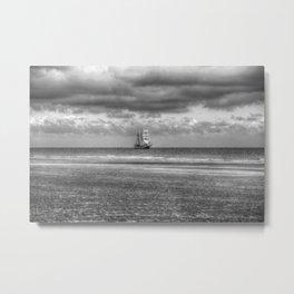 Tall Ship At Sail Metal Print