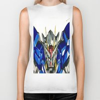 gundam Biker Tanks featuring Gundam 00 by Glen Howy