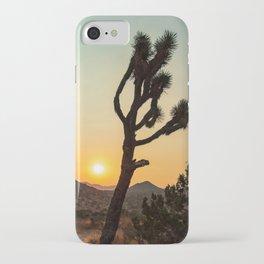 Joshua Tree Desert Vibes (Teal and orange) iPhone Case