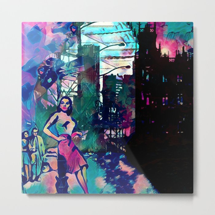Dame From Buxom Street Metal Print