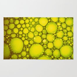 Yellow Oil Blobs on Water Rug
