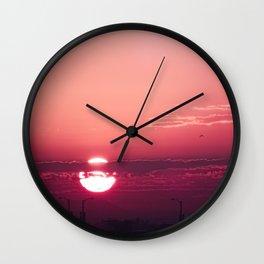 Dark Rose Dawn Wall Clock