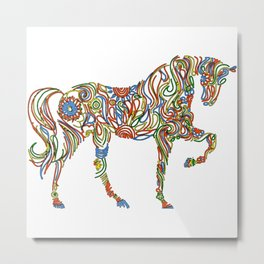 Abstract Horse Art Picture Metal Print