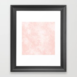 Pink Coral Marble Framed Art Print