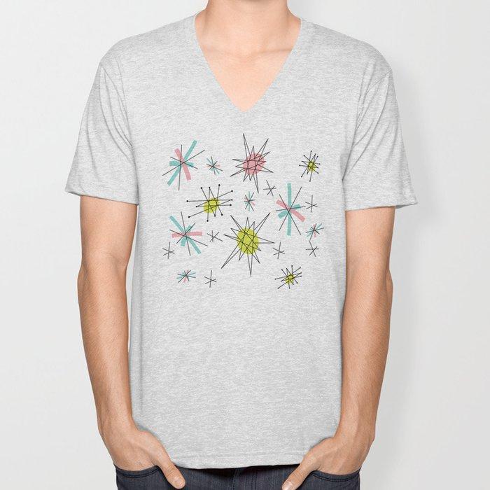 Atomic print Unisex V-Neck