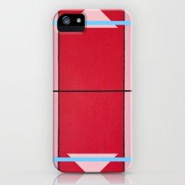 August - blue square graphic iPhone Case