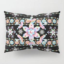 Folkloric Snowflakes Pillow Sham