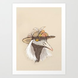 Bird in Hat-1 Art Print
