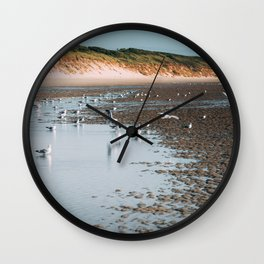 Low tide beach Wall Clock