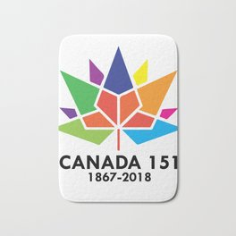 Happy Canada Day 151 1867-2018 Bath Mat