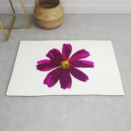 Strong Pink Cosmos Flower Rug
