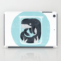 the whale iPad Cases featuring Whale by Rodrigo Fortes