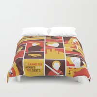 lannister Duvet Covers featuring House Lannister by Jack Howse
